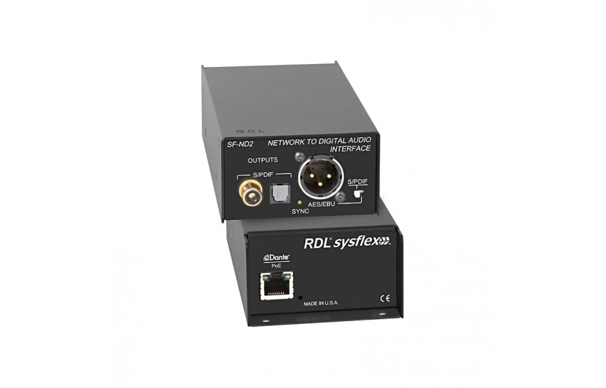 RDL SFND2 Network to Digital Audio Interface